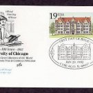 100th Anniversary University of Chicago, Cobb Hall, Postal Card USA