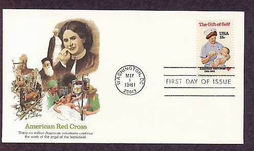 American Red Cross, Nurse and Baby, Civil War Nurse Clara Barton 1981 First Issue USA
