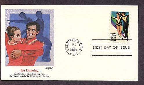 Olympics 1984, Ice Dancing, Lake Placid, New York, First Issue USA