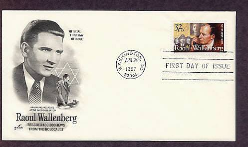 Honoring Architect Raoul Wallenberg, Rescued Thousands of Jews from the Holocaust, First Issue USA