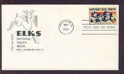 Honoring Elks, 100th Anniversary, BPOE, First Issue HF 1968 USA
