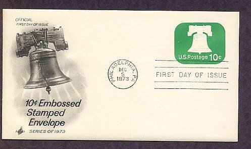 Embossed Stamped Envelope, American Revolution Liberty Bell First Issue USA