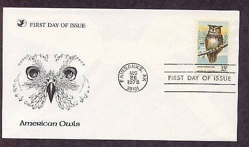 American Owls, Great Horned Owl, First Issue USA
