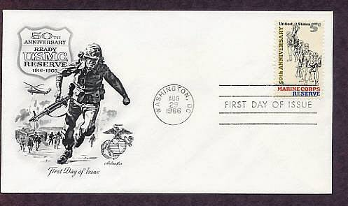 50th Anniversary Marine Corps Reserve, U.S.M.C. First Issue USA