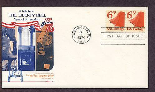 Liberty Bell, Symbol of America's Fight for Independence, 1974 First Issue USA
