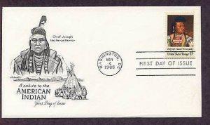 Native American Indian Chief Joseph, Nez Perce, Cyrenius Hall, First Issue USA