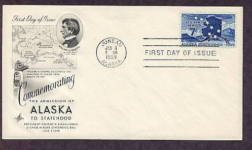 Alaska, 49th State of the Union, First Issue 1959 USA