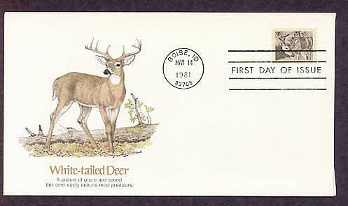 American Wildlife, White-tailed Deer, First Issue USA