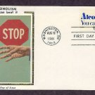 Combat Alcoholism, Hope for Alcoholics, Silk FDC First Issue USA