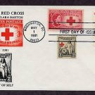 American Red Cross, Nurse and Baby, Civil War Nurse Clara Barton, Combo, First Issue USA