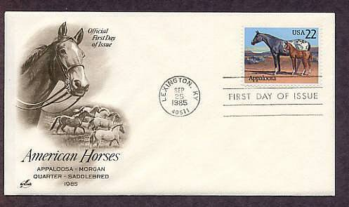 Appaloosa Horse, Lexington, Kentucky, First Issue USA