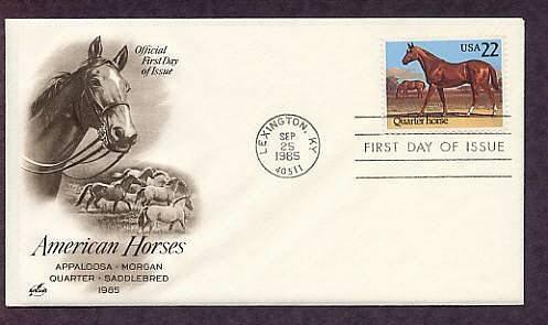 Quarter Horse, Lexington, Kentucky, 1985 First Issue USA