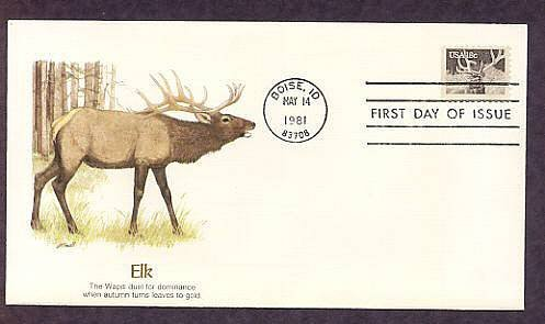 American Wildlife, Elk, First Issue USA