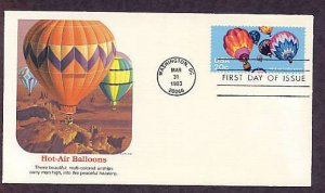 Hot Air Balloons, Ballooning, First Day of Issue USA