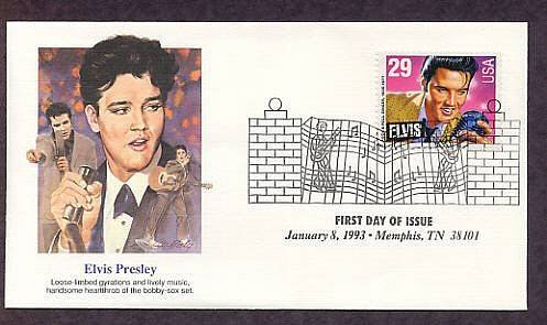 Elvis Presley, Rock and Roll Singer, Memphis, Tennessee, FW First Day of Issue USA