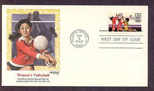 Summer Olympics 1984, Women's Volleyball, First Issue USA