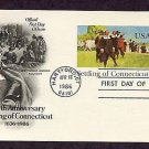 350th Anniversary, Settling of Connecticut, First Issue USA Postal Card