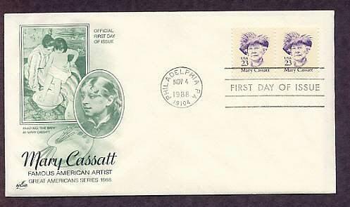 Honoring Artist Mary Cassatt, The Bath, First Issue USA