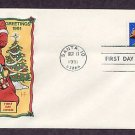 Christmas USPS Stamp, 1991 Santa Claus, HF, First Issue USA