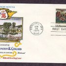 American Revolution Bicentennial, Battle of Lexington & Concord, North Bridge, First Issue USA