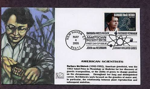 Barbara McClintock, Genetics, Nobel Prize Winner, First Day of Issue, FDC USA