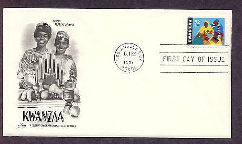African American Seven Days of Kwanzaa Karamu, AC First Issue USA FDC
