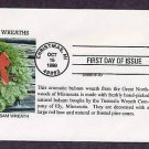USPS 1998 Christmas Postage Stamp, Balsam Wreath, First Day of Issue USA