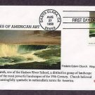 Frederic Edwin Church, Hudson River School Painter, Niagara, 1857, First Issue, FDC USA