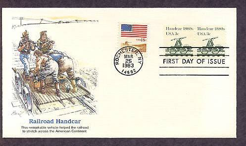 Railroad Handcar 1880s, Transportation, Fleetwood First Issue USA