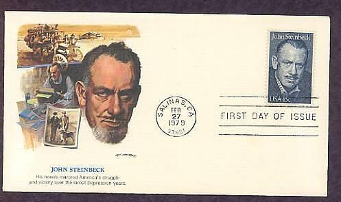 Honoring Writer John Steinbeck, Nobel Prize Winner, First Issue USA