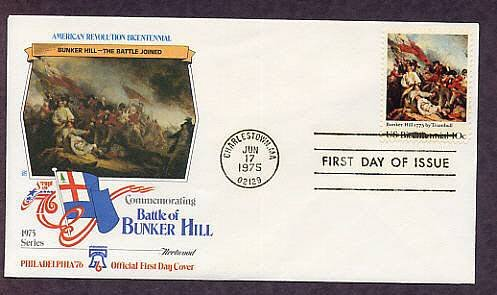 Bicentennial, American Revolution Battle of Bunker Hill, First Issue USA