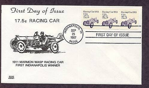 Marmon Wasp, First Indy 500 Winner, Indianapolis Racing Car, First Issue, Glen FDC USA