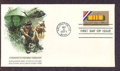 Honoring Vietnam Veterans, Arlington, Virginia, Veterans Day First Issue 1979 USA