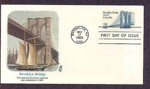 100th Anniversary Brooklyn Bridge, New York, First Issue USA