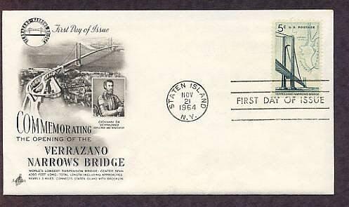 Verrazano Narrows Suspension Bridge, New York, First Issue USA