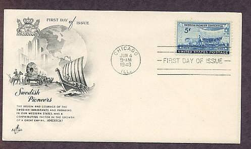 Swedish Pioneer Centennial, Covered Wagon, AC 1948 First Issue USA