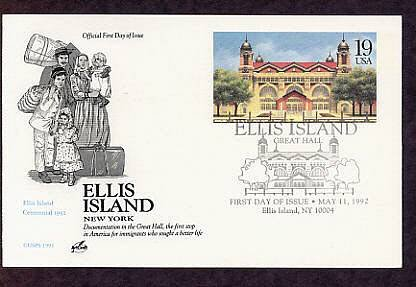 Ellis Island, New York Centennial Postal Card First Day of Issue USA