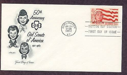 Girl Scouts of America 50th Anniversary AM First Issue 1962 USA