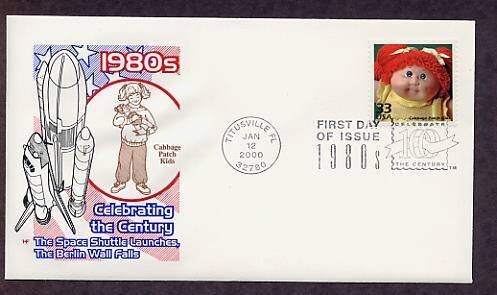 Cabbage Patch Kids Doll 1980s, Celebrate the Century, First Day of Issue, USA FDC
