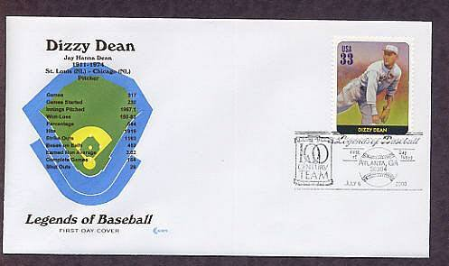 Dizzy Dean, Baseball Legend, Pitcher, First Issue USA
