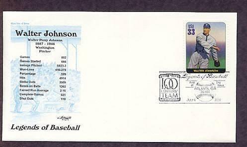 Walter Johnson, Baseball Legend, Pitcher, First Issue USA