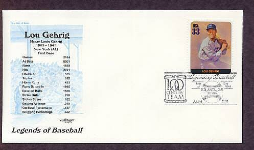 Baseball, Lou Gehrig, New York Yankees, First Issue USA