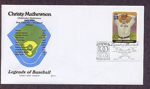 Christy Mathewson, Baseball Legend, Pitcher, First Issue USA