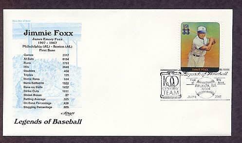 Jimmie Foxx, Baseball Legend, First Issue USA