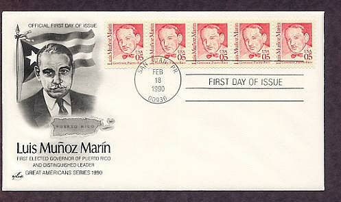 Puerto Rico First Governor Luis Marin, First Issue USA