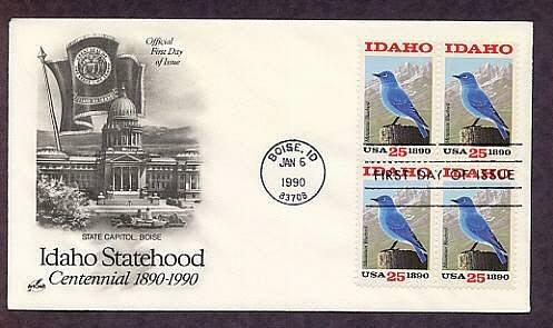 Idaho Statehood Centennial, Mountain Bluebird, First Issue USA