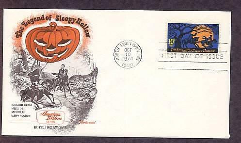 Legend of Sleepy Hollow, Headless Horseman, Halloween, Washington Irving First Issue USA