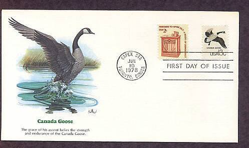 Canada Goose, Wildlife that Shares the Border Between Canada and the USA, First Issue