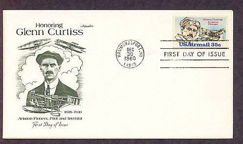 Aviation Pioneer Glenn Curtiss, Aircraft, Airmail First Issue USA