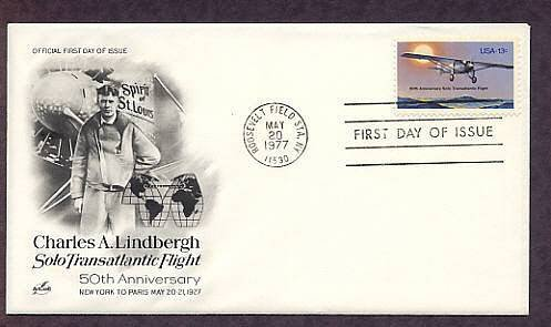 Charles Lindbergh Transatlantic Flight, Aviation, First Issue USA